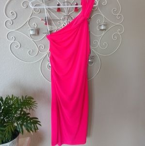 Gorgeous Hot Pink One Shoulder Bodycon Dress